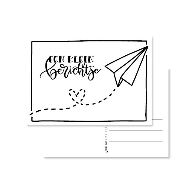 kaart handlettering een klein berichtje