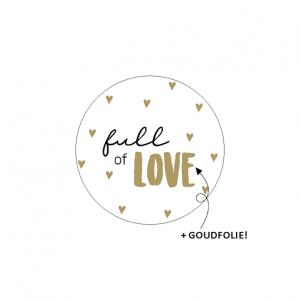 sticker sluitzegel full of love