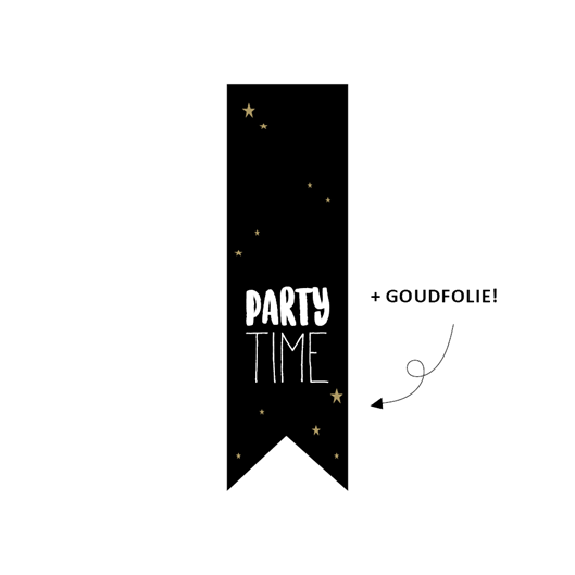 sticker sluitzegel vaantje partytime