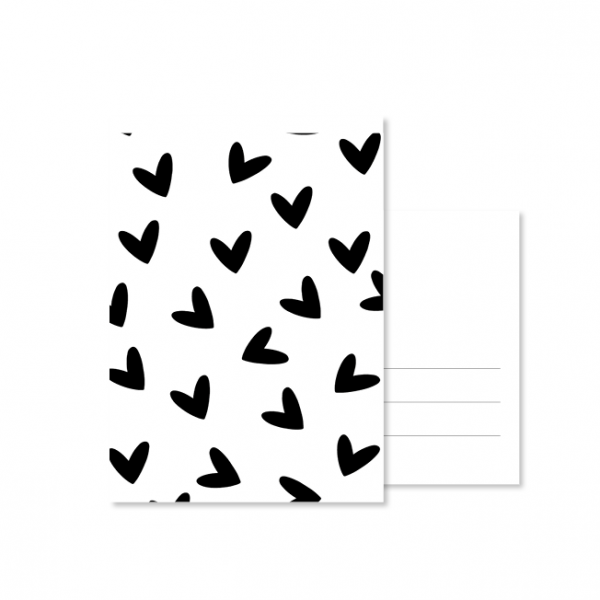 kaart handlettering hartjes