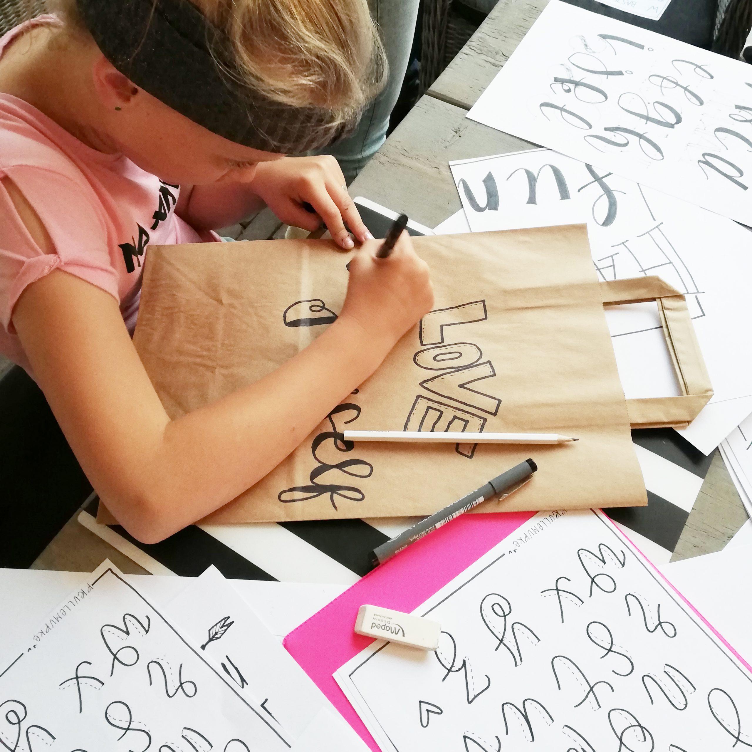 kinderfeestje workshop handlettering