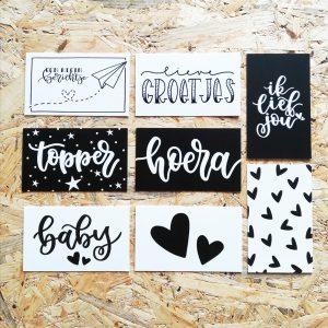 cadeaukaart minikaart handlettering