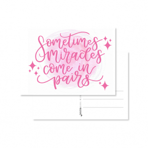 kaart handlettering sometimes miracles come in pairs