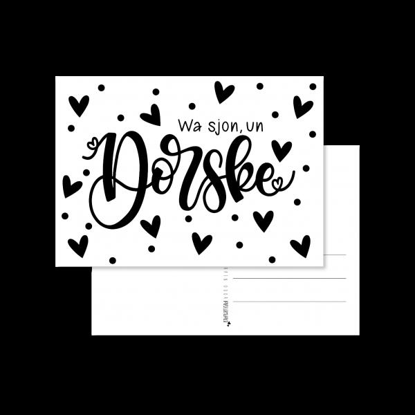 wa sjon een Dorske handlettering kaart a6