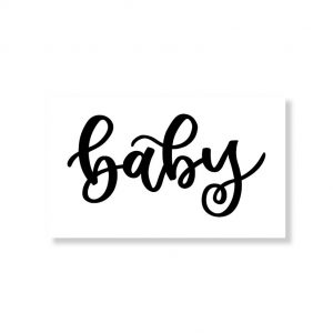 Minikaartje baby 6x10cm