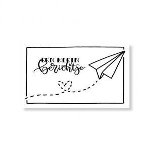 Minikaartje klein berichtje 6x10cm