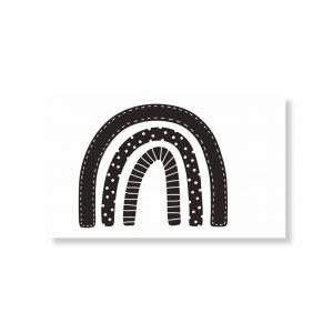 Minikaartje regenboog 6x10cm