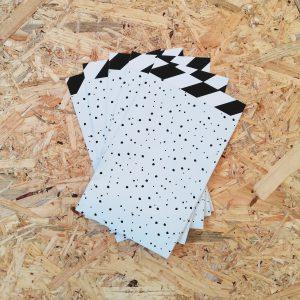 papieren zakje dots en streep 12x19cm